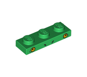 LEGO Green Plate 1 x 3 with Decoration (38922)