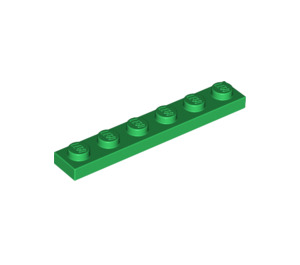 LEGO Green Plate 1 x 6 (3666)