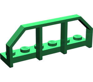 LEGO Green Plate 1 x 6 with Train Wagon End (6583)