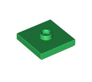 LEGO Green Plate 2 x 2 with Groove and 1 Center Stud (87580)