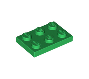 LEGO Green Plate 2 x 3 (3021)