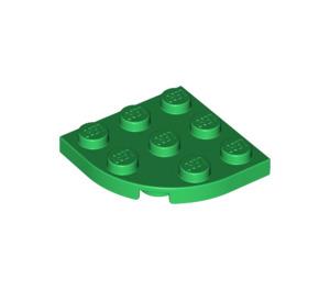 LEGO Green Plate 3 x 3 Corner Round (30357)