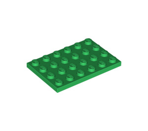 LEGO Green Plate 4 x 6 (3032)