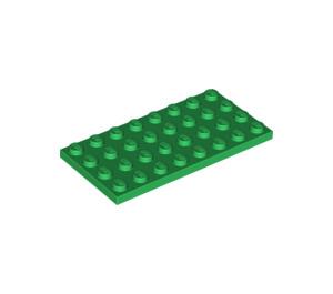 LEGO Green Plate 4 x 8 (3035)