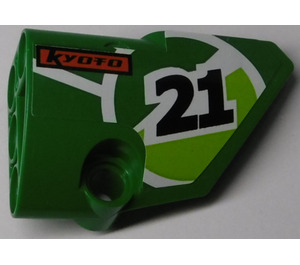 """LEGO Green Right Panel 2 with """"21"""" and """"KYOTO"""" Sticker"""