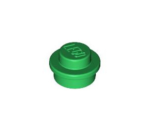 LEGO Green Round Plate 1 x 1 (6141)