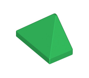 LEGO Green Slope 1 x 2 (45°) Triple with Inside Stud Holder (15571)