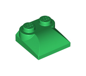 LEGO Green Slope 2 x 2 Curved with Curved End (47457)