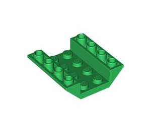 LEGO Green Slope 4 x 4 (45°) Double Inverted with Open Center (No Holes) (4854)