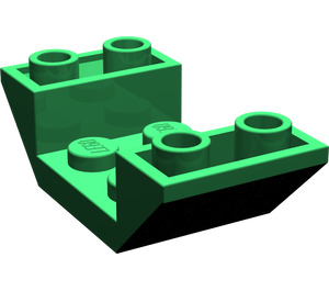 LEGO Green Slope 45° 4 x 2 Double Inverted with Open Center (4871)
