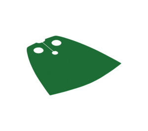 LEGO Green Standard Cape with Regular Starched Texture (20458 / 50231 / 97491)