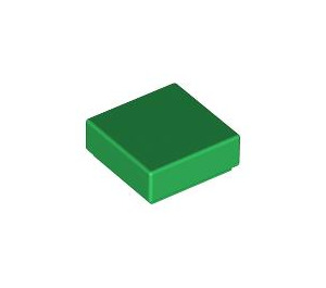 LEGO Green Tile 1 x 1 with Groove (3070)
