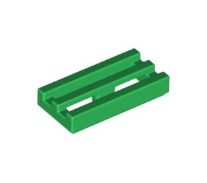 LEGO Green Tile 1 x 2 Grille (with Bottom Groove) (2412)