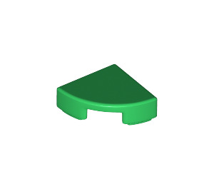 LEGO Green Tile Quarter Circle 1 x 1 (25269)