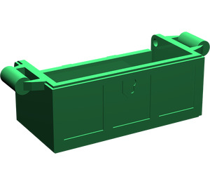 LEGO Green Treasure Chest Bottom with Slots in Back (4738)