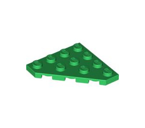LEGO Green Wedge Plate 45° 4 x 4 (30503)