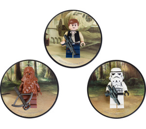 LEGO Han Solo, Chewbacca and Stormtrooper magnets (5002824)