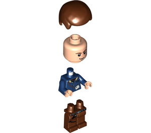 LEGO Han Solo with brown legs and eye dots Minifigure