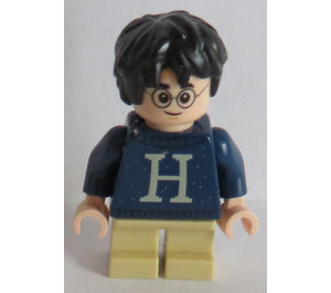 LEGO Harry Potter with 'H' on Dark Blue Pullover, short legs Minifigure