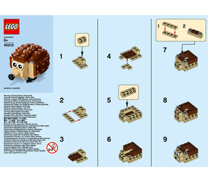 LEGO Hedgehog Set 40212 Instructions