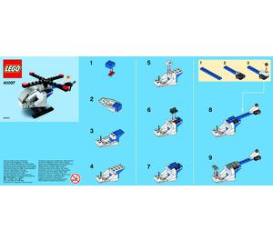 LEGO Helicopter Set 40097 Instructions