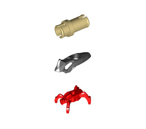 LEGO Hero Factory Red/Black Jumper Minifigure