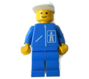 LEGO Highway worker with blue legs and white cap Minifigure
