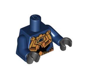 LEGO Hikaru Torso with Golden Armor and Exo-Force Logo with Dark Blue Arms and Black Hands (76382)