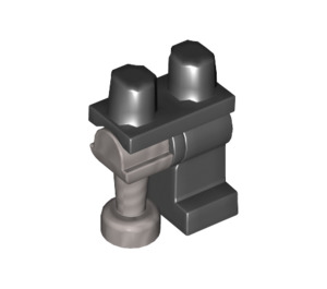 LEGO Hips with Left Black Leg and Right Flat Silver Peg Leg (84637 / 93798)