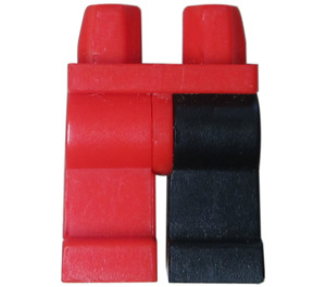 LEGO Hips with Red Right Leg and Black Left Leg