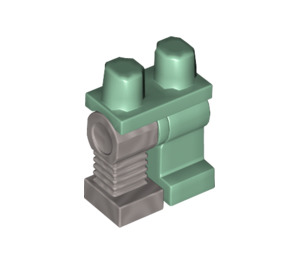 LEGO Hips with Sand Green Left Leg and Right Flat Silver Robot Leg (10679)