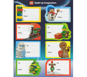 LEGO Holiday Gift Tag Stickers (Sheet of 8)