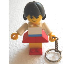 LEGO Homemaker Female Keychain