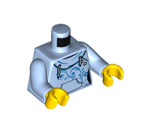 LEGO Hoodie with Front Pocket and Blue Swirls Female Torso (973 / 76382)
