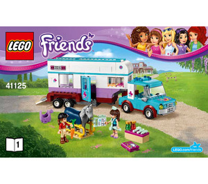 LEGO Horse Vet Trailer Set 41125 Instructions