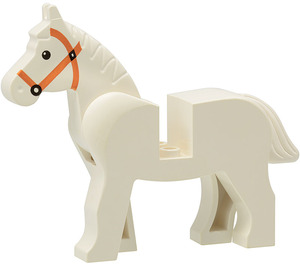 LEGO Horse with Black Eyes and Brown Bridle (75998 / 75998)