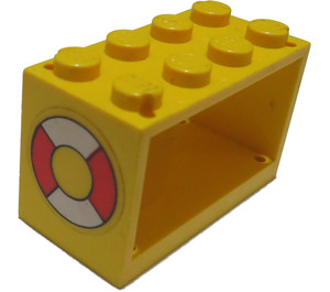 LEGO Hose Reel 2 x 4 x 2 Holder with Sticker from Set 6697 (4209)