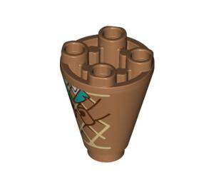 LEGO Ice Cream Cone Cone 2 x 2 x 2 Inverted (49309 / 59438)