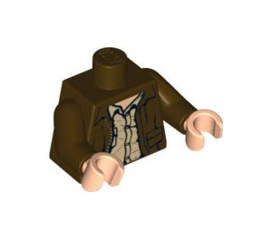LEGO Indiana Jones Torso with Jacket over Rumpled Tan Shirt (76382)