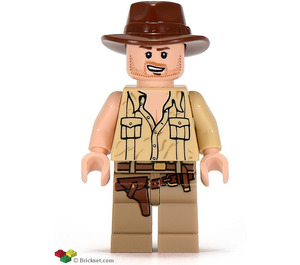 LEGO Indiana Jones with Open Shirt and Open Mouth Grin Minifigure