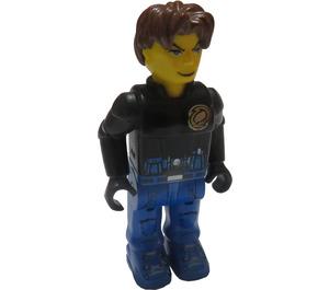 LEGO Jack Stone with Black Jacket and Blue Pants Minifigure