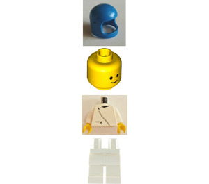 LEGO Jacket with Zipper and Classic Blue Space Helmet Minifigure