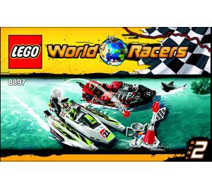 LEGO Jagged Jaws Reef Set 8897 Instructions