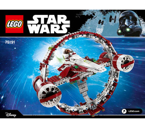 LEGO Jedi Starfighter with Hyperdrive Set 75191 Instructions