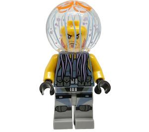 LEGO Jellyfish Thug Man Minifigure without Neck Bracket, with Beard