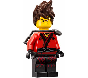 LEGO Kai with Spiked Hair Minifigure and Silver Katana Holder