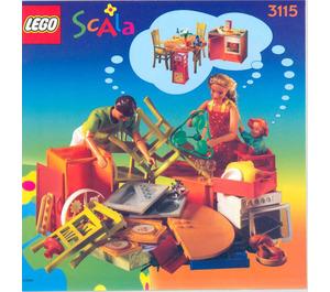 LEGO Kitchen Set 3115 Instructions