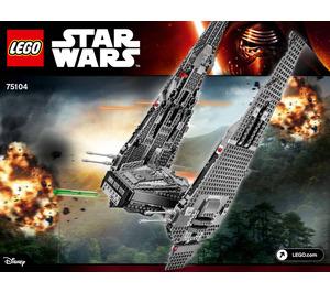 LEGO Kylo Ren's Command Shuttle Set 75104 Instructions