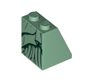LEGO Lady Liberty Slope 65° 2 x 2 x 2 with Centre Tube (99757)