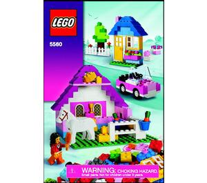 LEGO Large Pink Brick Box Set 5560 Instructions